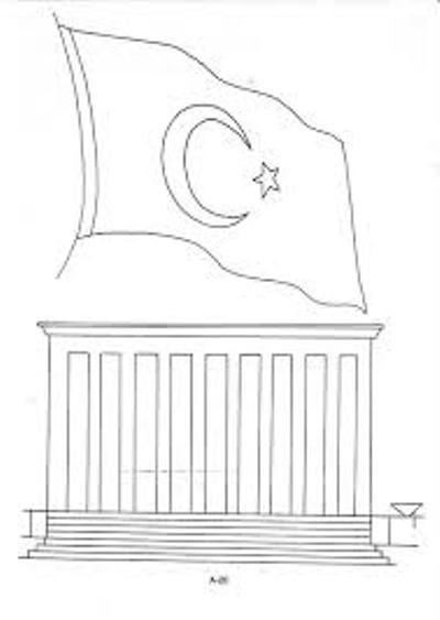 29 Ekim Cumhuriyet Bayramı Için Boyama Sayfaları