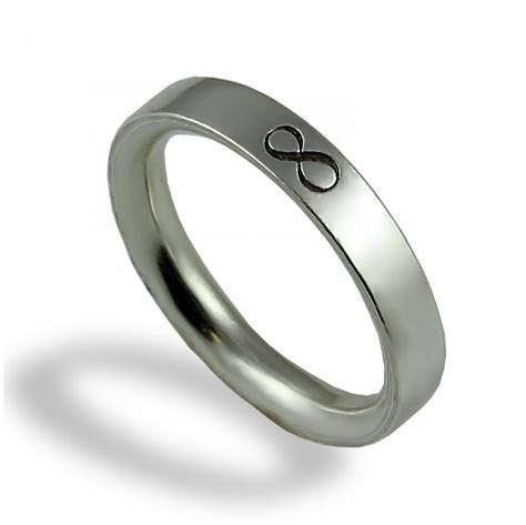 Infinity Wedding Band , Unique Wedding Ring , For Men