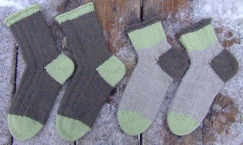 Socks knit for a friend