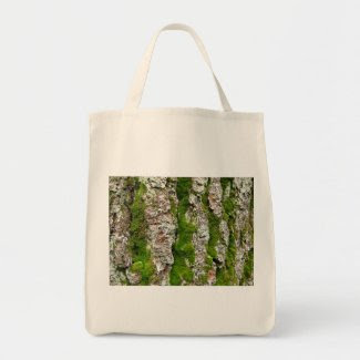Pine Tree Bark With Moss bag