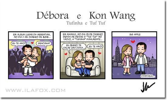 Convite em quadrinhos, história personalizada casal, by ila fox