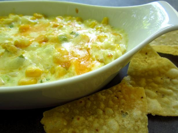 Hot Corn Dip With Crispy Tortilla Chips. Photo by gailanng