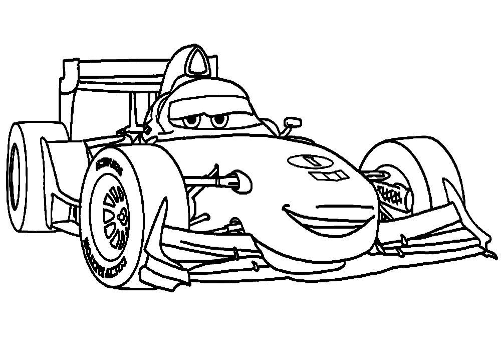 Dibujos Animados Para Colorear Cars 2 Para Niños Pequeños