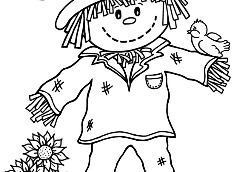 15 Printable Scarecrow Coloring Pages Print Color Craft Coloring Pages