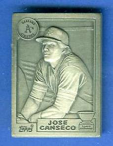 1987 Topps Jose Canseco ROOKIE - PEWTER BONUS