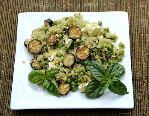 Fried Zucchini, Pea & Quinoa Salad 1