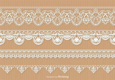 Lace Trim Vector Set   Download Free Vector Art, Stock