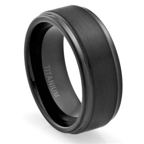 Men's Titanium Wedding Bands   Unique Engagement Ring