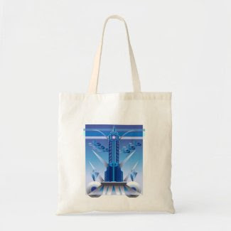 Art Deco Building Design on Budget Tote Bag