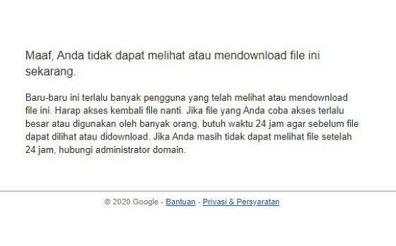 Cara Mengatasi tidak bisa download file atau Limit di Google Drive oleh - laptopasus.online