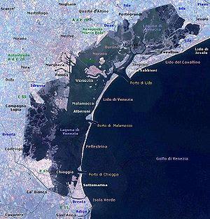 Venetian Lagoon as seen by Landsat 1