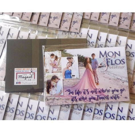 Personalized Ref Magnet Wedding Souvenirs (Quality