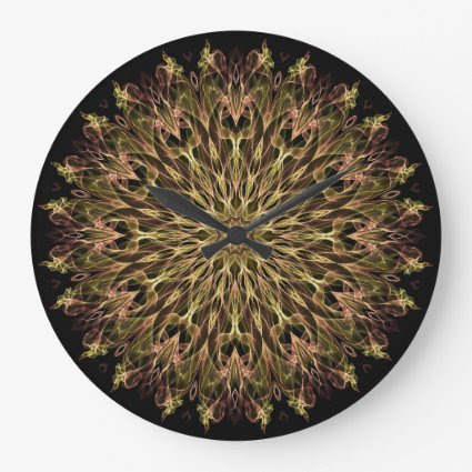 Gold and Copper Kaleidoscope Clock