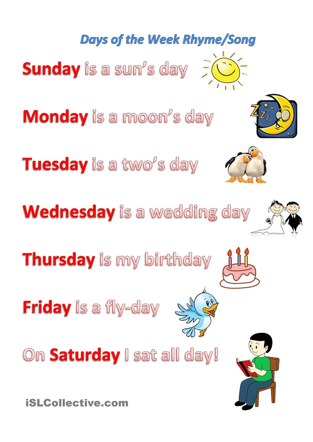 Quotes About Days Of The Week 211 Quotes