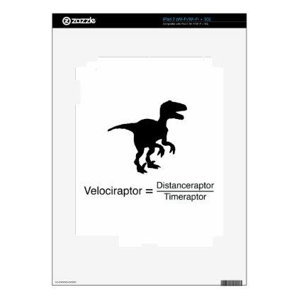velociraptor funny science iPad 2 decal