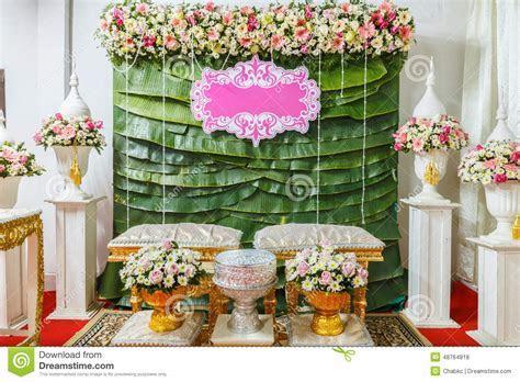 Flower Tray, In Thai Wedding Ceremony Stock Photo   Image