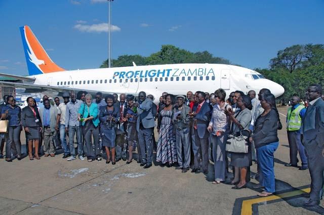 Proflight Zambia's Inaugural B737 flight