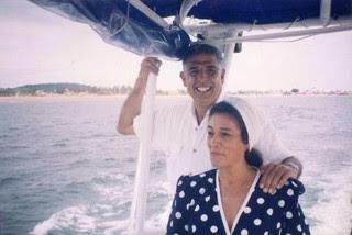 Rubén Aguirre com a esposa, Consuelo (Foto: Reprodução/Twitter)