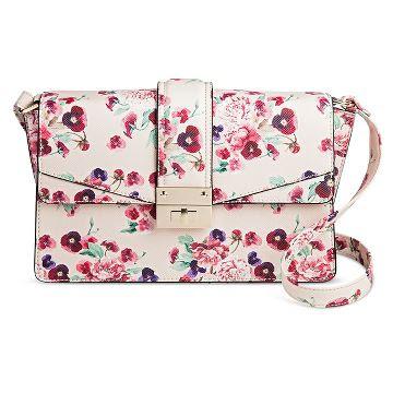 Women's Pink Floral Crossbody Handbag - Mossimo™