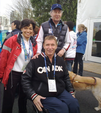 Bonnie Saint John, Rick Hansen and Mike