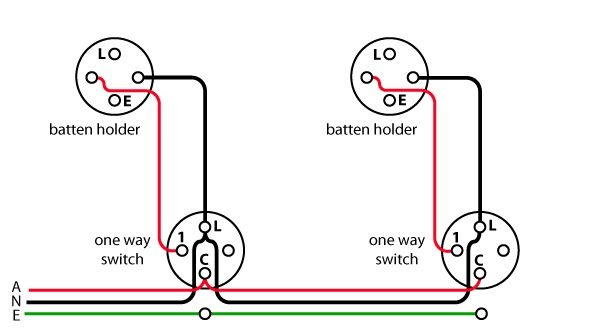 Wiring 2 Lights To 1 Switch Diagram
