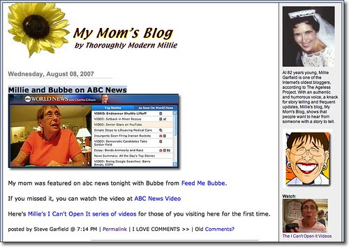 My Moms Blog Screenshot
