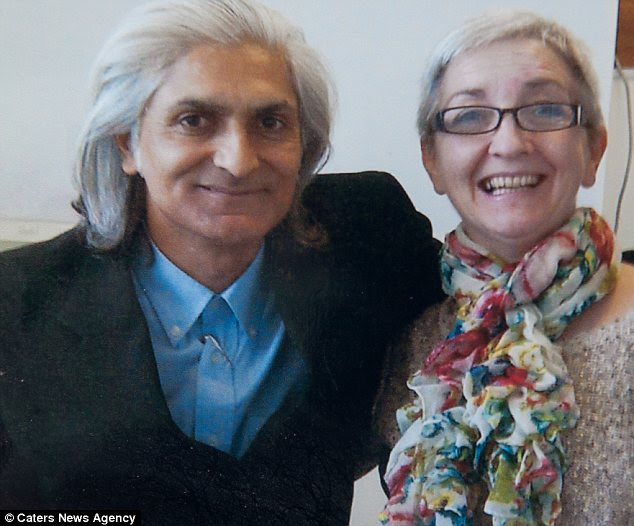 Pauline with her neurosurgeon Umang Patel who gave her a new lease of life