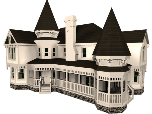 Victorian House 3d Model 3dsmax Files Free Download Modeling 11043