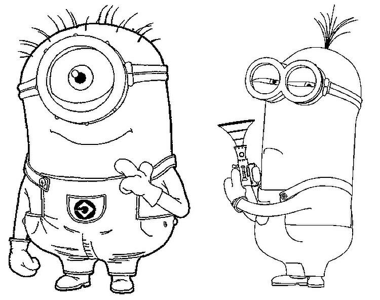 Dibujo Para Colorear Los Minions 3