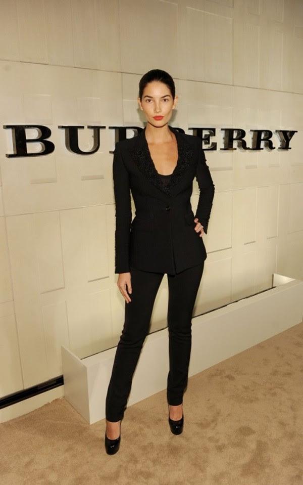5 Lily Aldridge in Burberry at the Burberry Body event in LA