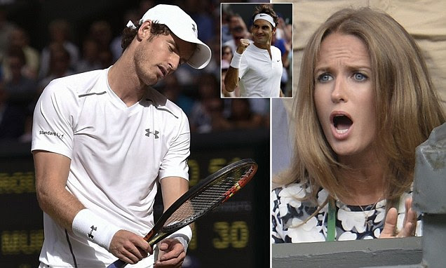 Andy Murray loses semi-final to Roger Federer at Wimbledon