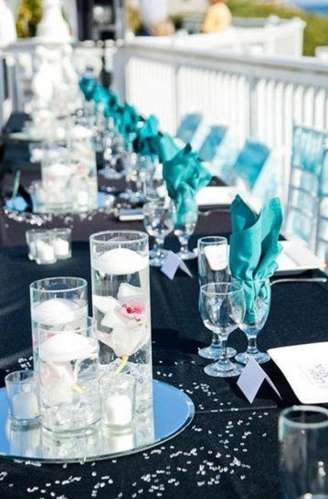 Black And Turquoise Wedding The Tres Chic 2552571 Weddbook