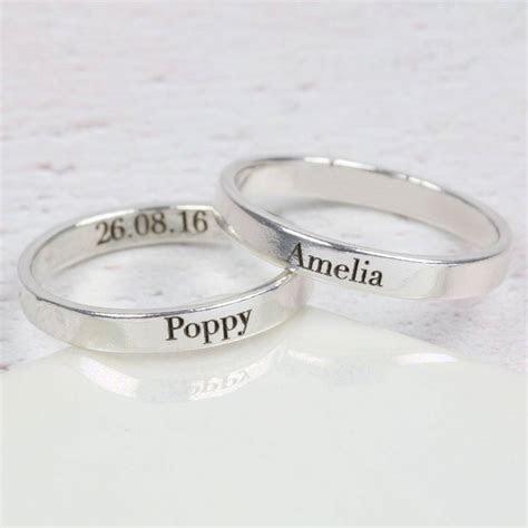 Fresh Name Engraved Wedding Rings   Matvuk.Com