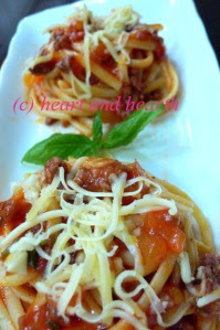 Ning's Sicilian Style Spaghetti