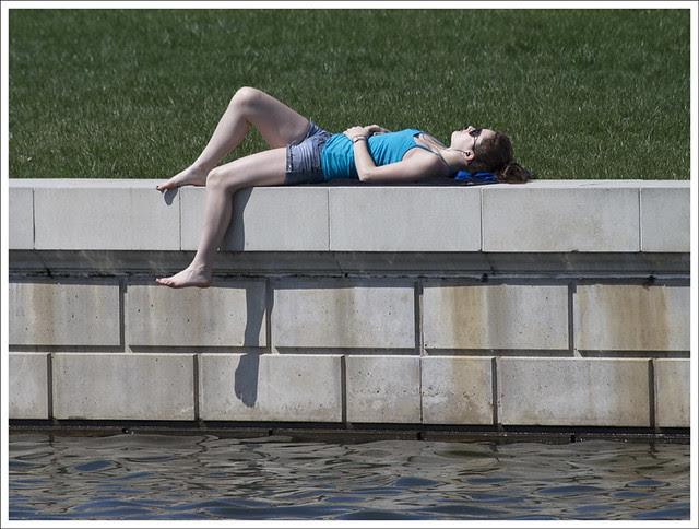 Sun Bathing At The Grand Lagoon
