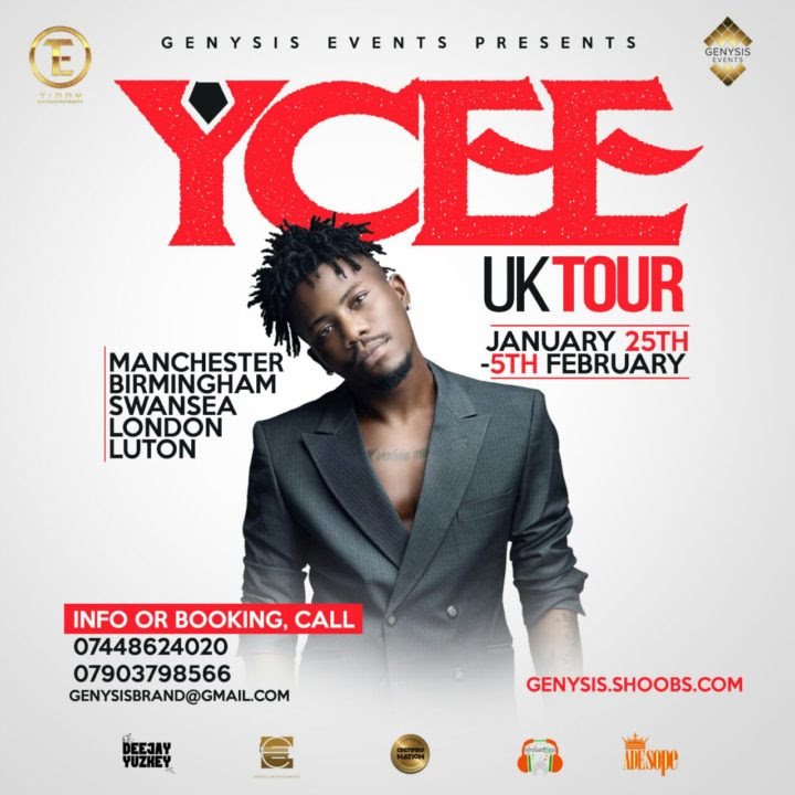 Ycee Set For UK Tour | See Dates