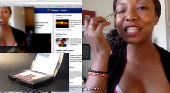 Moça surta durante vídeo de maquiagem! Verdadeiro ou falso? (foto: Reprodução/YouTube)