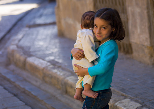 Young Girl With Her Brother, Aleppo, Syria