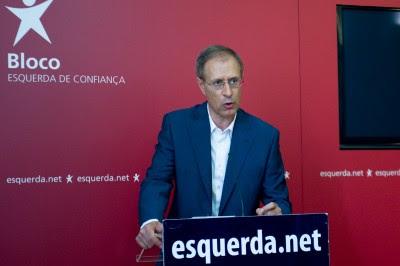Esta segunda-feira, Francisco Louçã anunciou que o Bloco apresentará uma moção de censura ao Governo PSD/CDS. Foto de Paulete Matos