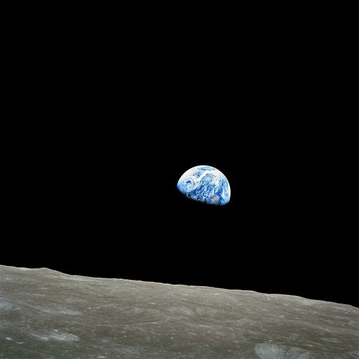 earth rise captured over the lunar surface
