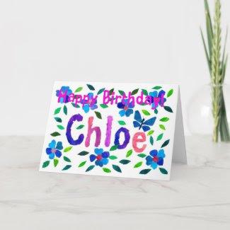 'Chloe' Birthday Card card