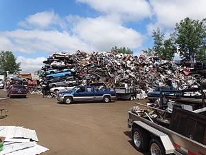Industrial and domestic scrap metal junk yard,...