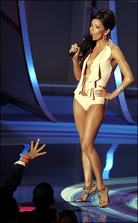 How did Eva Longoria not win best dressed?  Was their a minimun clothing requirement?