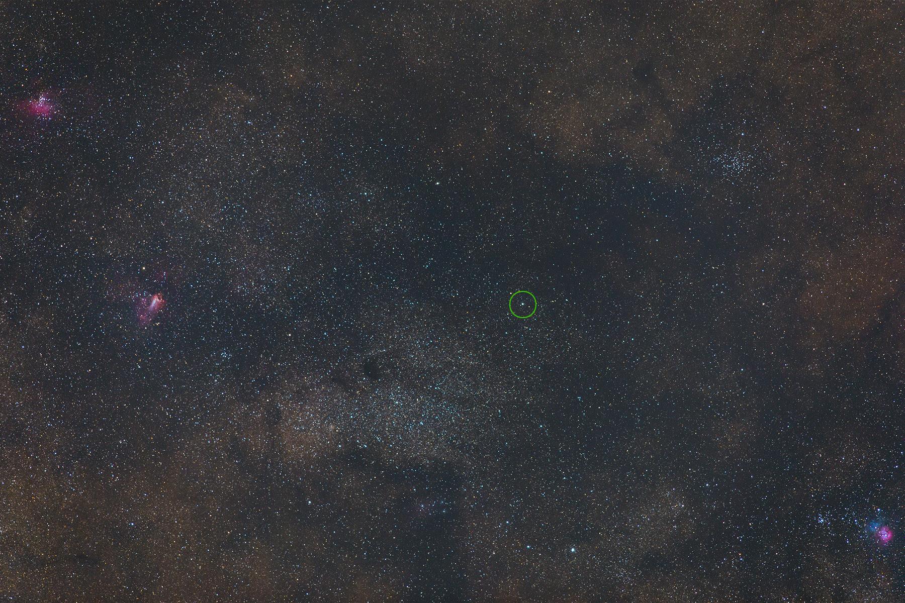 Widefield view of asteroid 4 Vesta on June 2, 2018