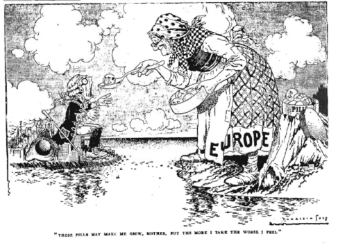 LIFE cartoon about Jewish immigration