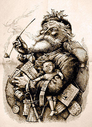 "Thomas Nast's most famous drawing, ""Merry..."