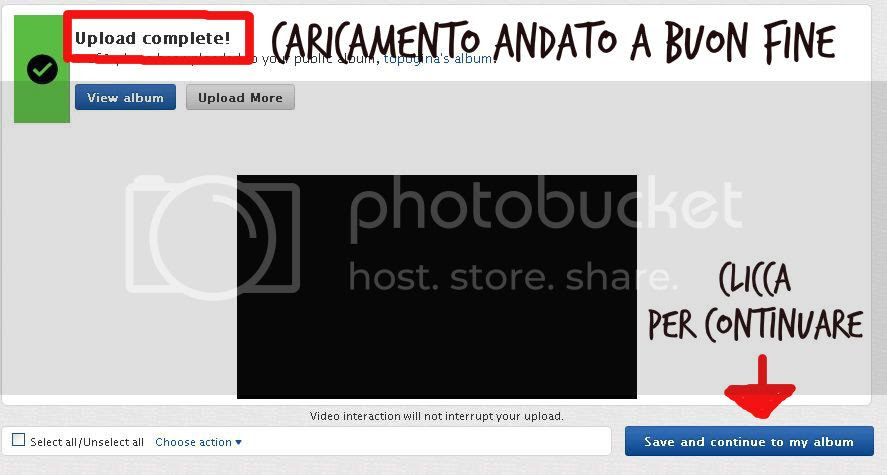 upload immagine completed