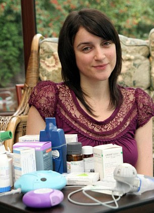 In this picture (left) from 2007, Jennifer showed her own daily routine of medication