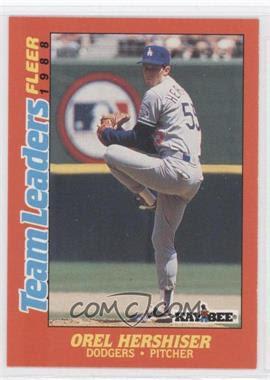 1988 Fleer Team Leaders #13 - Orel Hershiser - Courtesy of CheckOutMyCards.com
