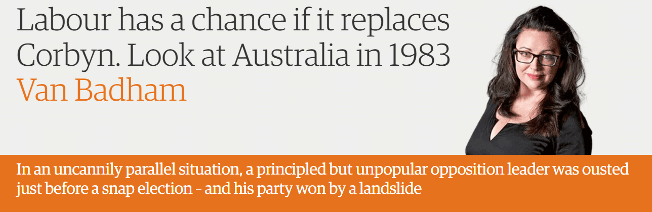 Labour has a chance if it replaces Corbyn. Look at Australia in 1983